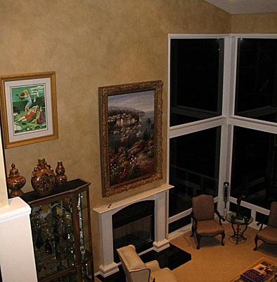 Architectural Wall Finish Great Room Seattle bellevue fire place