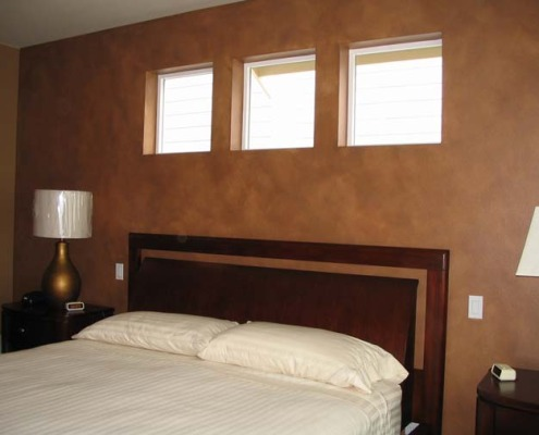 Architectural Faux Finish Master Bedroom Issaquah Seattle bellevue tacoma house painters modern bed