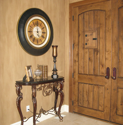 Architectural Faux Finish Entry Kirkland interior design ideas Seattle old world doors