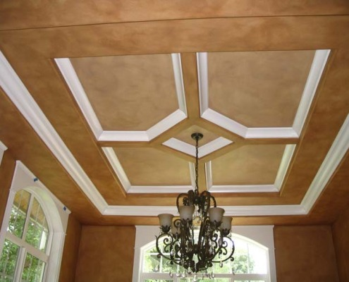 Architectural Faux Finish Dining Ceiling Bellevue ceiling design ideas bellevue tacoma