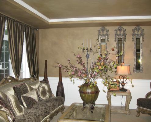 Architectural Faux Finish Formal Living Room Gig Harborinterior design ideas tacoma old world sofa silk pillows vase houzz