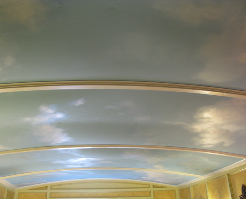 cloud ceiling murals Day Time Sky Ceiling with Clouds Bedroom Olympia Seattle dreamy ceiling kids room