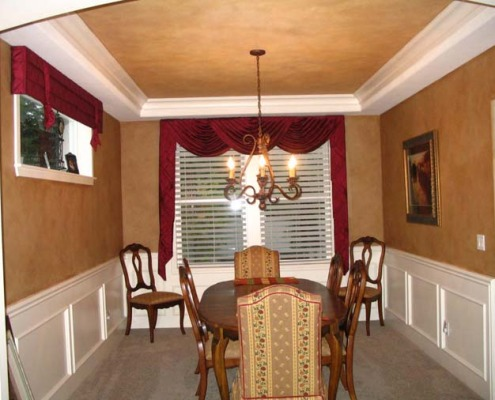 Architectural Faux Finish Dining Room Redmond seattle tacoma house painters inset ceiling