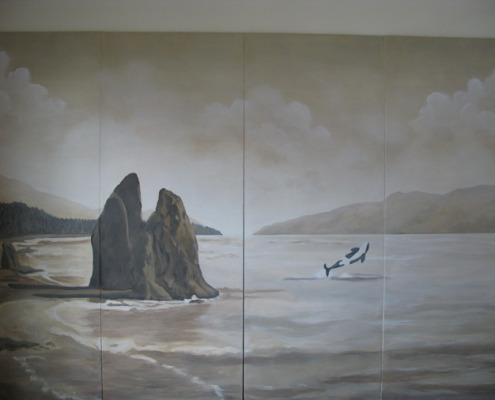 Sepia Murals Cannon Beach Sepai Mural Seattle northweat murals whales muralist design ideas Tacoma