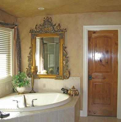 Architectural Faux Finish Master Bathroom Kirkland interior design ideas bellevue houzz antique mirror with gold leaf soak tub