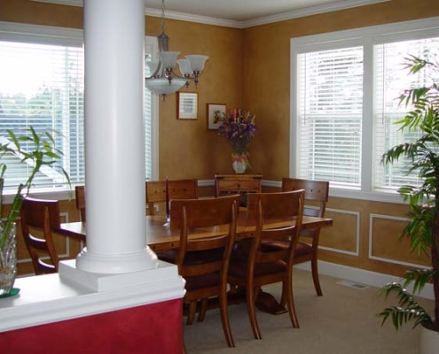 Architectural Faux Finish Formal Dining Gig harbor dining set olympia tacoma