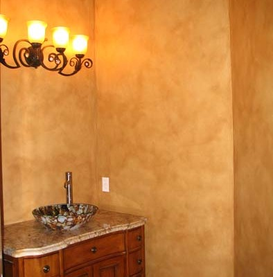 Architectural Faux Finish Powder Room decorative paint vanity with sink house painters