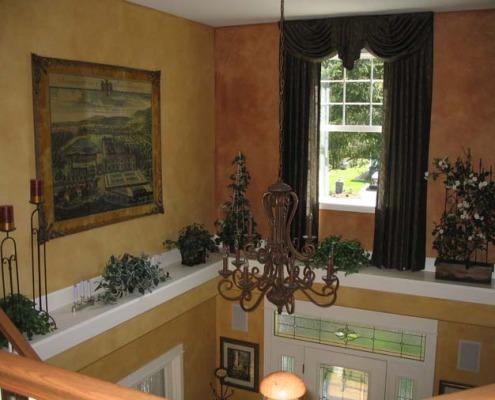 Architectural Faux Finish Entry Maple Valley decorative paint seattle kirkland chandelier