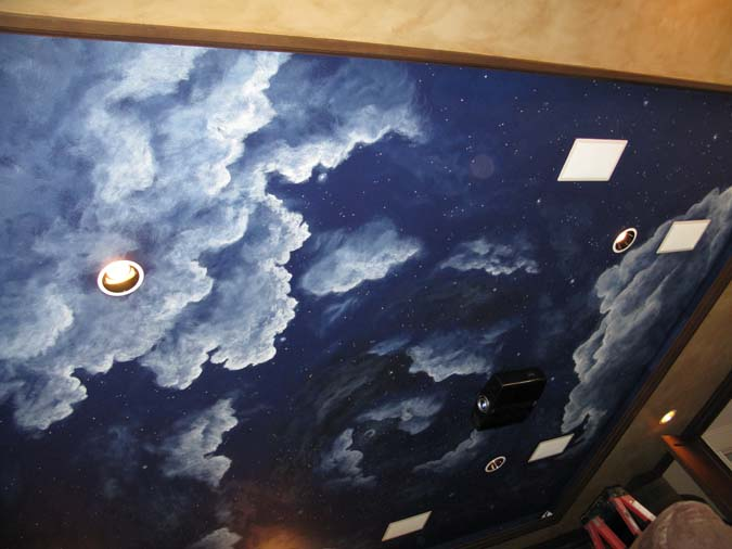 Cloud Ceiling Murals And Painted Phrases Paradise
