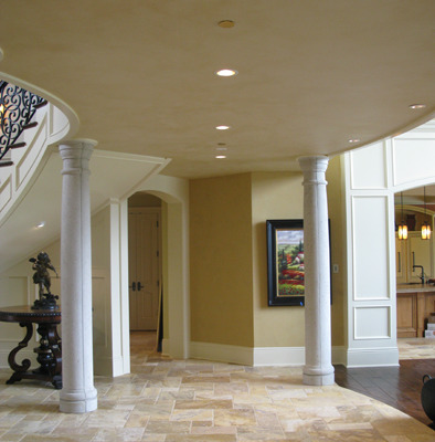 Architectural Faux Finish Ceiling Medina interior design ideas Seattle bellevue tacoma travertine floors columns entry houzz