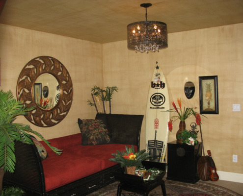 Cream Linen Finish Haw aii Room Kirklandinterior design ideas decorators round mirror houzz