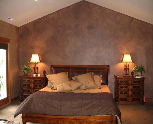 Architectural Faux Finish Master Bedroom Gig Harbor chocolate brown bed set decorative paint bellevue tacoma house painters